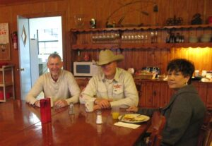 Malcolm Logan with Doug and Sherry at the Running R Ranch in Bandera, TX