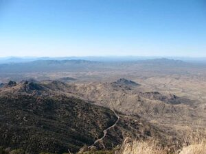 View from atop Kitt Peak, AZ