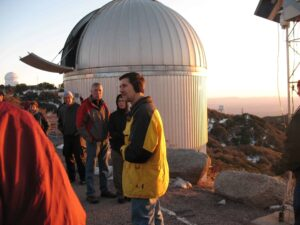 Astronomer lecturing at Kitt Peak National Observatory