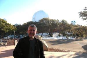 Malcolm Logan at Kitt Peak Observatory near Tucson, AZ