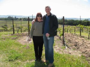 Marianne Grisdale and Malcolm Logan in the Sonoma Valley