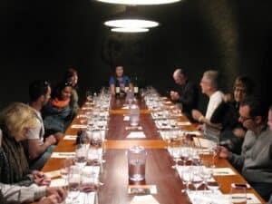 Underground tasting room at the Gundlach-Bundschu Winery in Sonoma