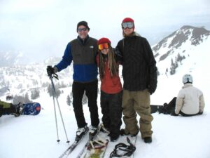 Malcolm Logan, Cambelle Logan and Alex at Squaw Valley