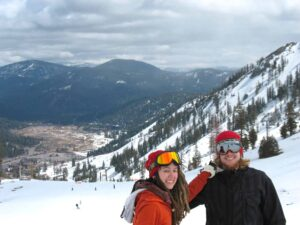 Cambelle Logan and her boyfriend Alex at Squaw Valley