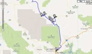 Driving Tour Map of Area 51 Sites