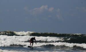 Malcolm Logan surfing in Costa Rica