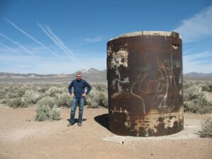 Malcolm Logan at the Project Faultless Site in Nevada