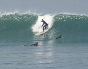 Sliding down a wave