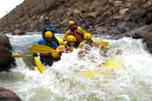 Wall Slammer, a class IV rapid on the Arkansas River