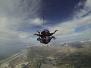 Malcolm Logan in free fall with Skydive Utah in Erda, Utah