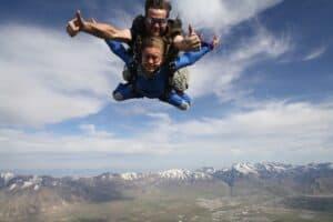Cambelle Logan tandem skydiving at Skydive Utah