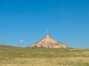 Chimney Rock on the Oregon Trail near Bayard, Nebraska