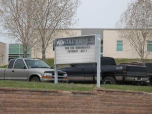 Columbine High School site of the Columbine Shootings
