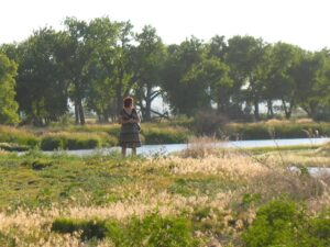 Marianne Grisdale on the banks of the Platte River in Bayard, NE