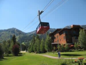 Jackson Hole Ski Resort in the summer