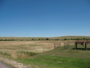 Site of the Wounded Knee Massacre photographed in 2013