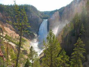 Waterfall at the Grand Canyon of the Yellowstone