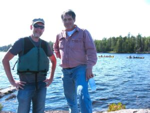 Malcolm Logan and Tim Lincoln at the Boundary Waters Canoe Area