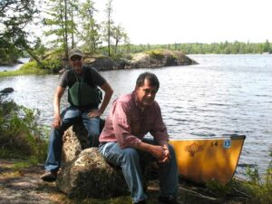 Malcolm Logan and Tim Lincoln in the Boundary Waters