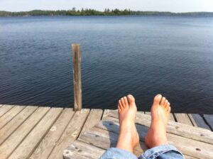 The dock at Perhson's Lodge on Lake Vermilion near Cook, Minnesota