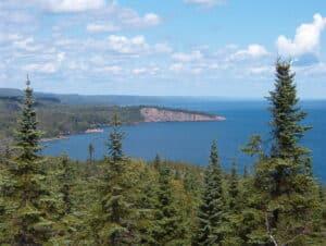 The north shore of Lake Superior