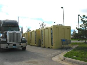 Temporary VEC housing units in Williston, ND