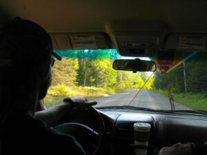 Driving to the Boundary Waters Canoe Area