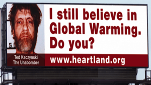 Global Warming Billboard near Bedford, PA