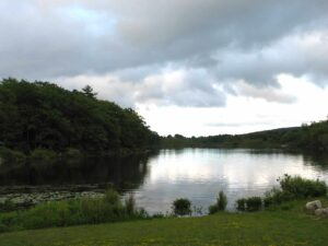The lake at Lily Dale, New York, a place where the future can be told.