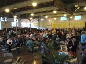 Believers in Spiritualism gather at the Silver Tea at Lily Dale, New York