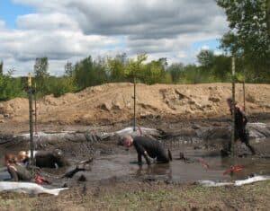 Malcolm Logan in the mud pit at the Warrior Dash in Grand Rapids, MI