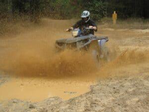 Mud bogging at Carolina Adventure World