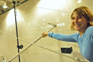 Joan Anundsen at New York Trapeze School in Chicago