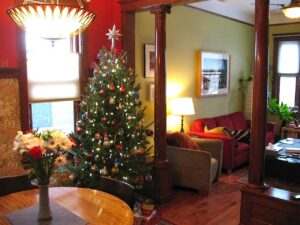 Christmas tree at the home of Malcolm Logan and Marianne Grisdale in Chicago