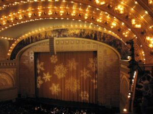 The Auditorum Theater in Chicago before a performance of the Nutcracker Suite