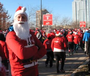 Malcolm Logan at the Santa Hustle 5K plans a Christmas in Chicago sure to make his wife gag.