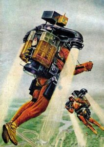 Men with jet packs - a 60's era vision of the future