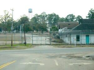 Side entrance of the shuttered Dozier School for Boys