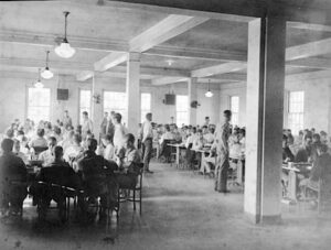Dining hall at the Florida Industrial School for Boys where the bottle shaking incident allegedly occurred.
