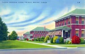 Idyllic postcard image of the Florida Industrial School for Boys