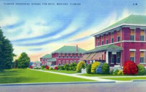 Idyllic postcard image of the Florida Industrial School for Boys