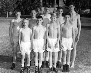 Group portrait of boys at the Florida Industrial School for Boys in the 1950's.