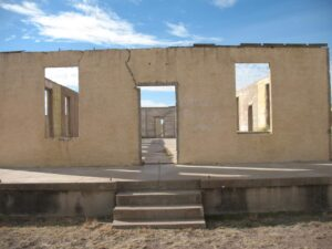 Ruins of the hospital at Fort D.A. Russell in Marfa, TX