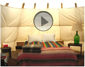Teepee living. A video tour of the eccentric lodgings at El Cosmico campground.
