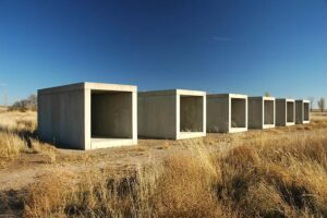 Donald Judd's untitled 15 in Marfa, TX