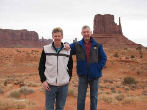 Curt and Malcolm Logan at Monument Valley