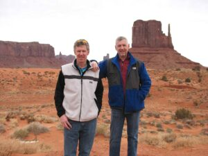 Curt and Malcolm Logan at Monument Valley, Utah