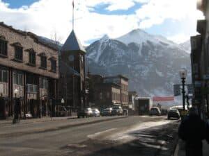 Colorado Avenue in Telluride, Colorado