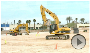 Point of view video of excavator at Dig This