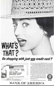 BankAmericard ad in the 1960's